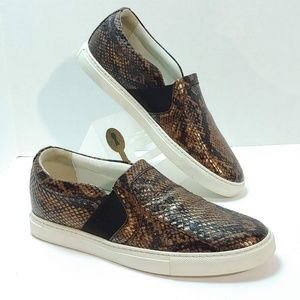 ©Lanvin Women's Snake-Embossed Metallic Slip-On